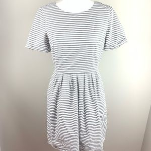 Madewell Gray & White Striped Dress Size 2